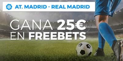 At.Madrid-R.Madrid gana 25 freebets con Paston