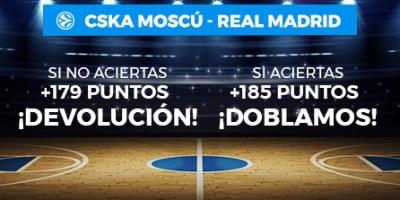 CSKA Moscu-R.Madrid devolucion si aciertas o fallas en Paston