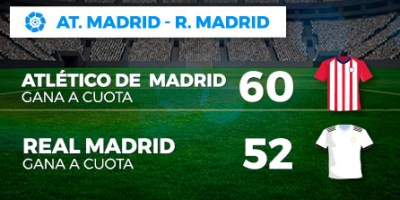Megacuota doble At Madrid-R.Madrid en Paston