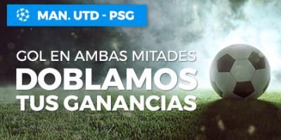 Manchester U.-PSG gol en ambas partes doblamos tus ganancias en Paston
