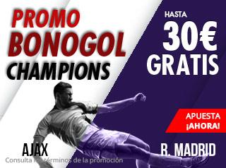 Promo bonogol Champions hasta 30€ gratis con Suertia