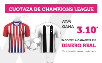 Cuotaza Champions 3.10 gana At. Madrid con Wanabet