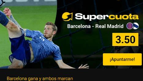 Supercuota 3.50 gana Barcelona y ambos marcan con Bwin