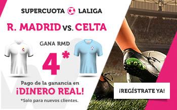 Megacuota 4 gana Madrid a Celta en Wanabet