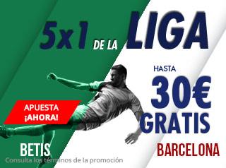 5x1 de la Liga,gana hasta 30€ gratis con Suertia