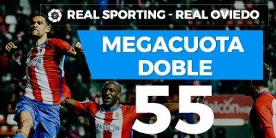 Megacuota doble 55 gana Oviedo o Sporting en Paston