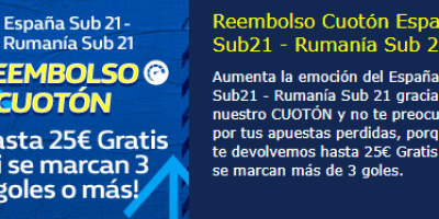 hasta 25€ gratis si se marcan 3 o mas goles con William Hill