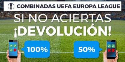 Combinadas de Uefa sino aciertas devolucion con Paston