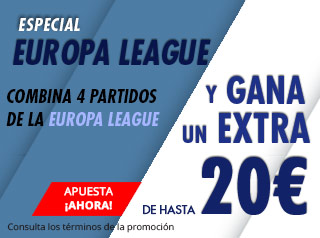 Especial Europe League hasta 20€ gratis con Suertia