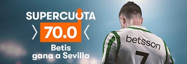 Megacuota 70 gana el Betis al Sevilla en Betsson