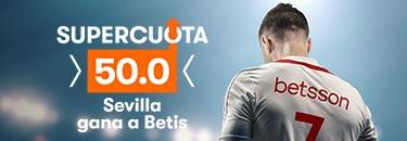 Megacuota 50 gana Sevilla a Betis en Betsson