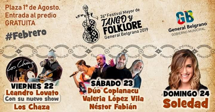 FUE ANUNCIADA LA GRILLA PARA EL FESTIVAL MAYOR DE TANGO Y FOLKLORE