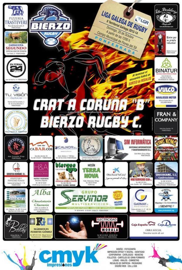 cartel bierzo rubgy 20-10-2013