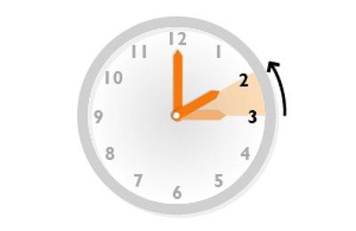 retrasar reloj una hora menos