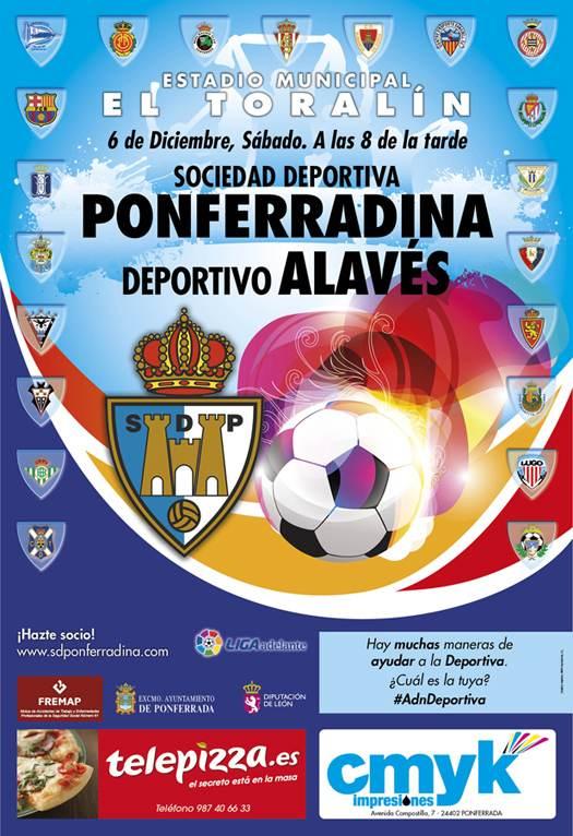 deportiva ponferradina alaves 14 15 cartel