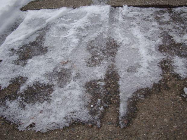 hielo acera
