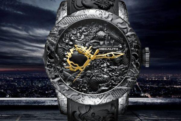 Fashion Gold Dragon Sculpture Watch