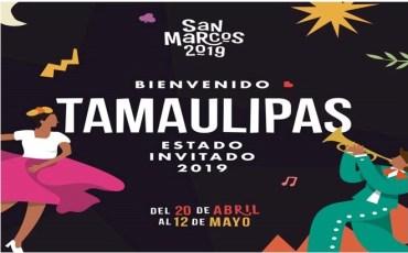 Tamaulipas, estado invitado en la Feria Nacional de San Marcos 2019