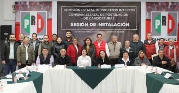 Instala PRI comisiones de Procesos  Internos y de Postulación de Candidaturas