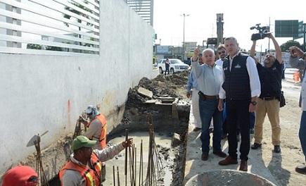 Construyen Moderno Dren Pluvial en el Perimetral