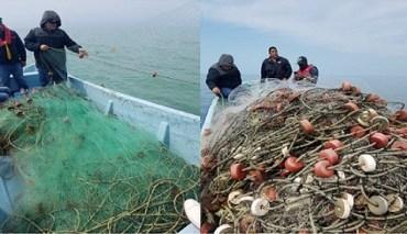 Decomisan inspectores de CONAPESCA y Secretaría de Pesca Tamaulipas instrumentos de pesca ilegal