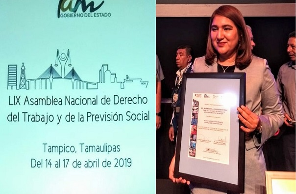 Entregan Mención honorífica a la M.E. María Estela Chavira Martínez