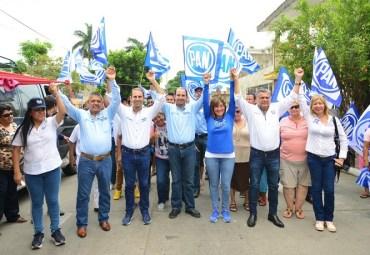 Respalda Dirigencia Nacional del PAN a Rosa González y Mon Marón