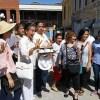 Celebran los locatarios con pastel 4 años de demolición de mercado