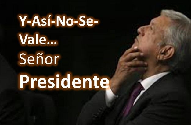 Así no, Sr. Presidente