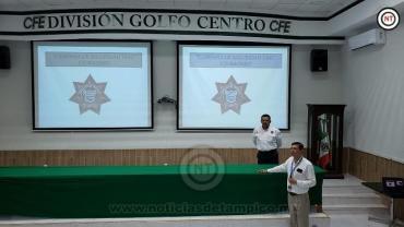 Tránsito de Ciudad Madero imparte curso de educación vial a personal de CFE