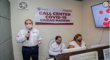 Atiende Madero 5 llamados al Call-Center.