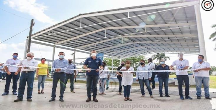 Inaugura Chucho Nader Rehabilitación de Techumbre en la Borreguera