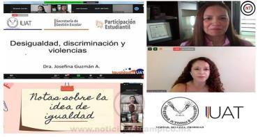 Organiza UAT panel de Igualdad y Prevención de las Violencias