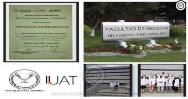 Distinguen en Nuevo León a estudiantes de Medicina UAT-Tampico