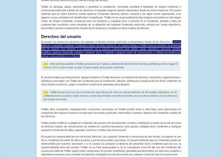 TWITTER DERECHOS DE AUTOR
