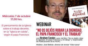 Seminario en línea: «No os dejéis robar la dignidad. El papa Francisco y el trabajo»