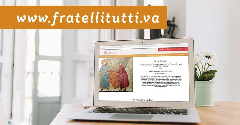El Vaticano abre una web dedicada a Fratelli tutti