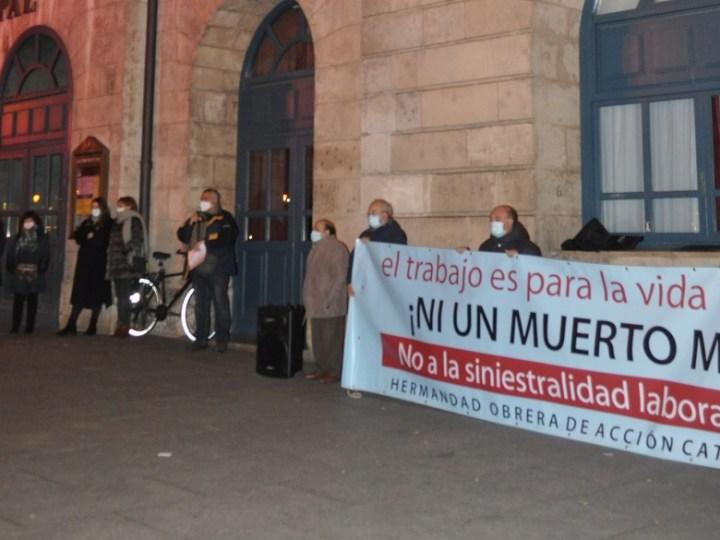 Trabajadores cristianos de Burgos se concentran por los últimos accidentes laborales mortales