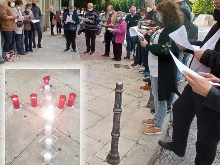 Trabajadores cristianos y sindicalistas de Jaén realizan un homenaje a los fallecidos en accidente laboral
