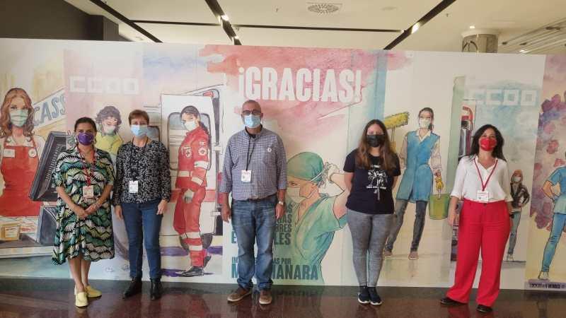 Trabajadoras cristianas en el congreso de CCOO