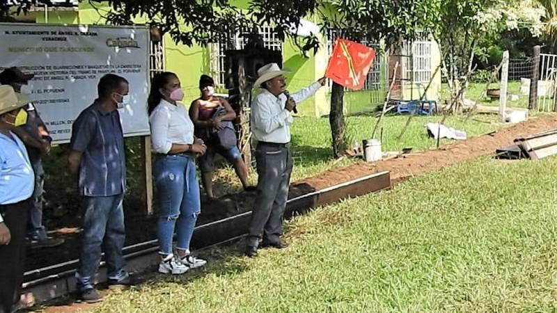 Inaugura Arturo Herviz obras en El Porvenir