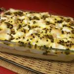 Delicioso Gelado de Maracujá com Chantilly