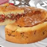 Torta de Mandioca com Carne-Seca