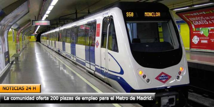 convocan 200 plazas de empleo para el metro de madrid