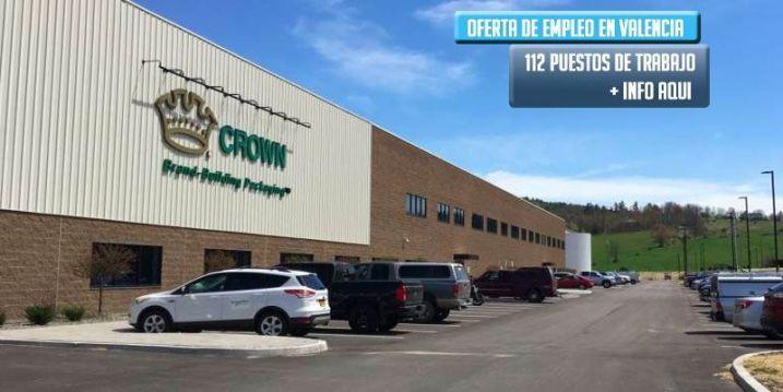 Crown hold oferta 112 empleos en Valencia