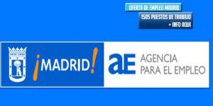 madrid oferta 1500 empleos parados