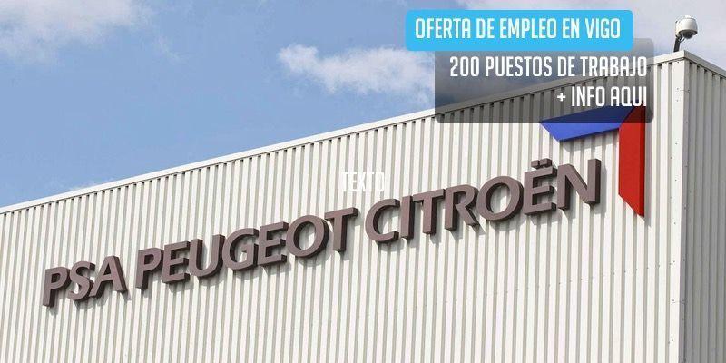 oferta de trabajo empleo PSA Peugeot Citroën