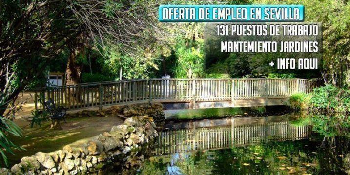 oferta de empleo jardinero en Sevilla
