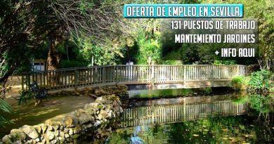 Ayuntamiento de Sevilla oferta 131 empleo para cuidado de jardines