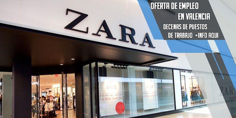 oferta de empleo en Zara Valencia